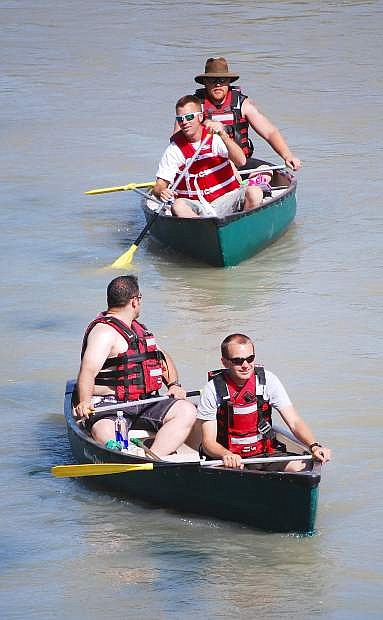 Canoers can enjoy a lazy Saturday or Sunday this weekend by floating down the Carson River below Lahontan Dam.