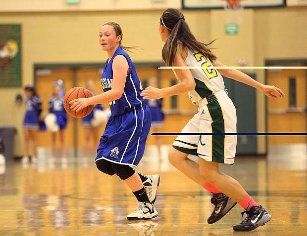 Melissa Glanzman controls the ball for Carson on Tuesday.