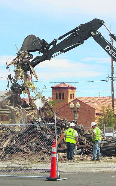 The city of Fallon recently started demolition on the old juvenile probation office located near City Hall.