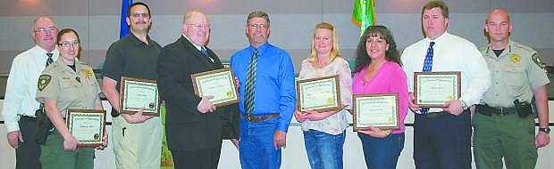 The Churchill County Commissioners recognized employees for their years of service at their Wednesday meeting.