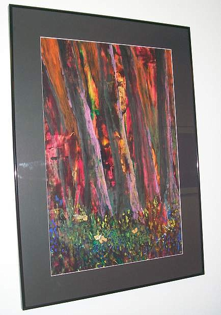 Displayed in the County Administrative building is one of the 22 paintings created by Arline Lockwood.