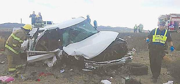 A two-car crash on Interstate 80 in December 2014 sent three people to the hospital. The drive rof the wrong-way vehicle was sentenced to the Nevada State Prison last week.