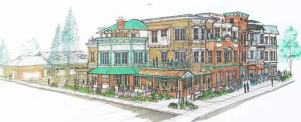 A conceptual drawing of what the Curry Street bulding will look like when completed.