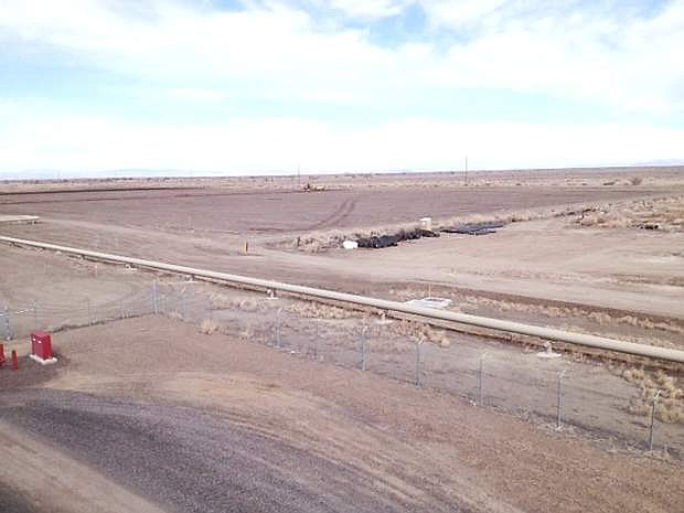 This is the site of Enel Green Power's Stillwater Solar Geothermal Hybrid Project construction site of its solar thermodynamic facility