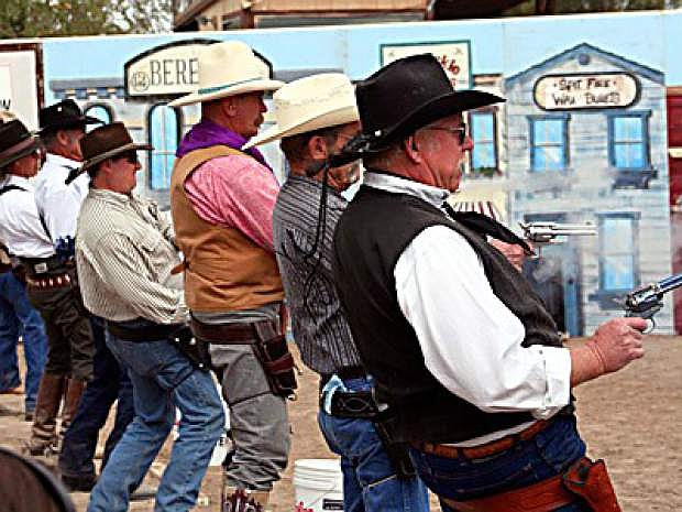 """""""The Fastest Gun Alive"""" will be crowned this weekend as part of tjhe Wolrd Cowboy Fast Draw Championships which begin Friday at the fairgrounds."""