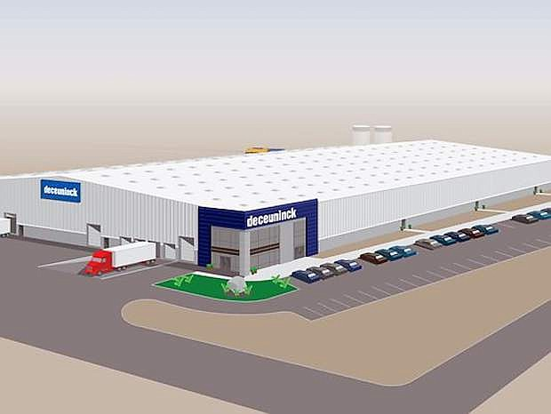 Deceuninck North America broke ground for a new facility that will include extrusion, manufacturing support, offices and a warehous.