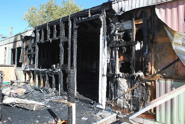 Fallon/Churchill Fire Department responded to a mobile home fire Wednesday night.