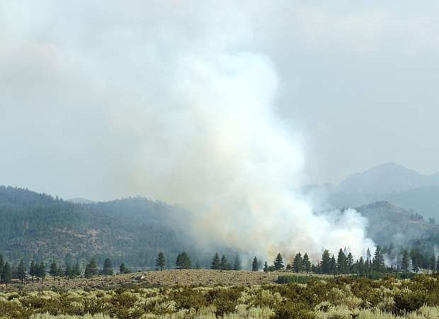 The Diamond fire is burning in Alpine County on Thursday evening.