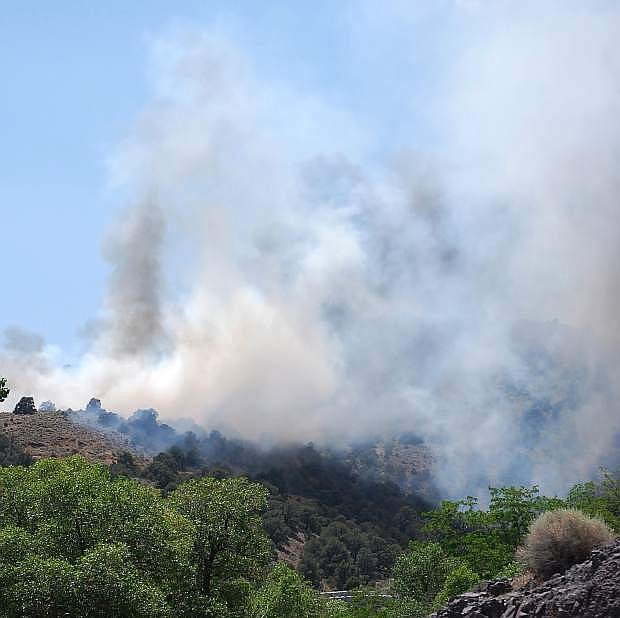 Fire restrictions have been lifted for most of western Nevada today. The 2013 summer fire season was a busy one with many  fires spring up in the area such as thisnature-caused blaze near Silver City.