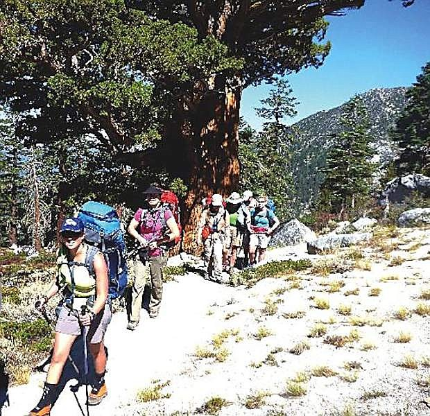 Hikers tackle the Tahoe Rim Trail.