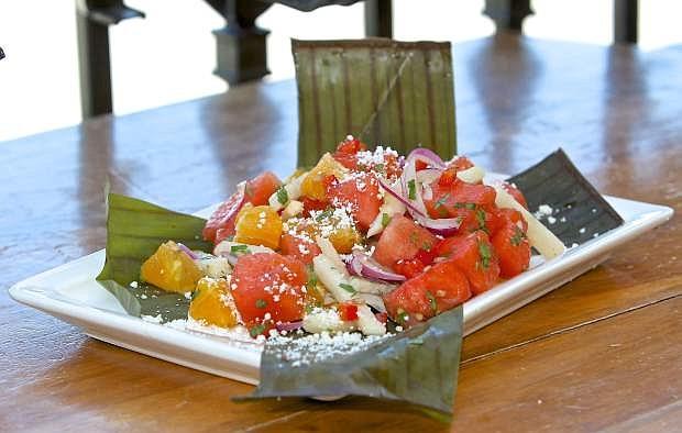 The watermelon salad special at Cafe Del Rio in Virginia City.