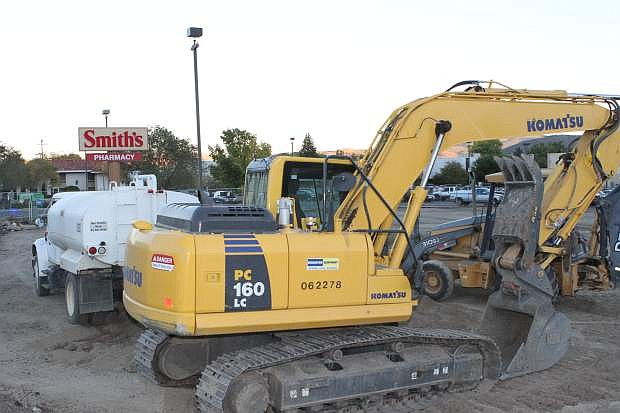 A new gas station is under construction at the Smith's grocery store on William St. in Carson City.