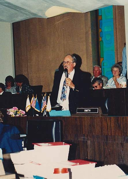 During one of the legislative sessions, Virgil Getto addresses his colleagues.
