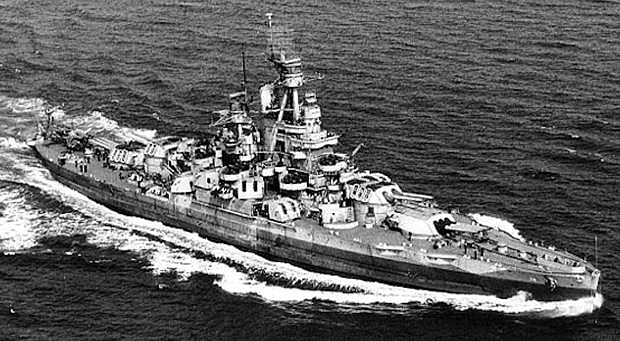 The USS Nevada, circa 1944