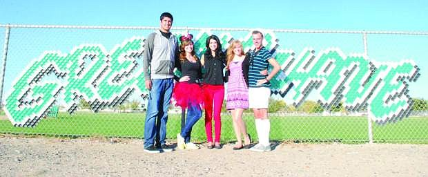 Senior royalty for this year's Homecominginclude, from left, Beau Marshall, Rosemary Kufalk, Micaiah Saling, Victoria Leigh Ward and Jared Huston. Not pictured is Dustin Gross.