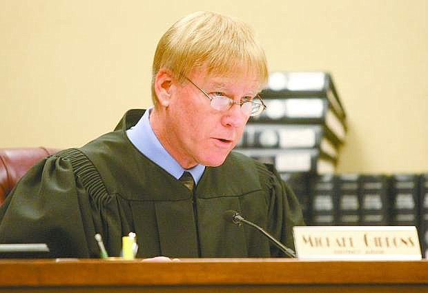 Judge Michael Gibbons during a recent trial.