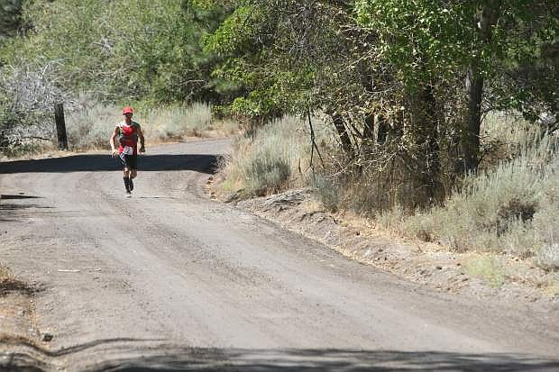 Rick Atherton of Minden competes in the Genoa Peak Madathon on Saturday. Atherton was the men's 50-59 age group winner for the marathon.