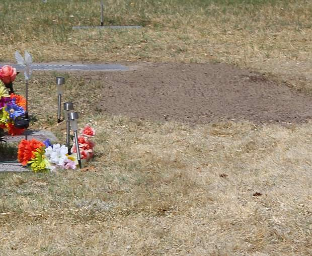 This is the site where a cemetery worker found the body of a Fallon woman who had been shot by her ex-husband.