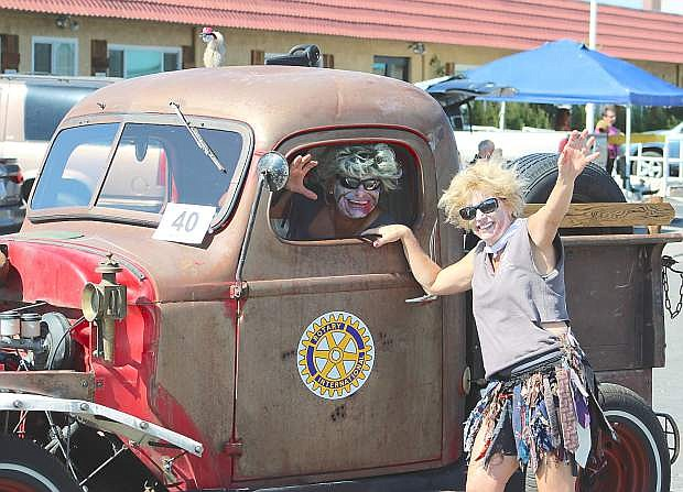 The winner of the Lions Club parade's President's Award was awarded to the Fallon Rotary Club. The Rotary Club promted its zombine run/walk.