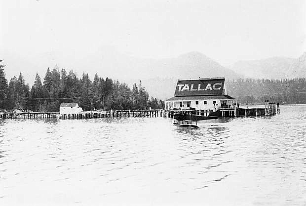 Photo provided Tallac pier is advertised in this undated historical photo.