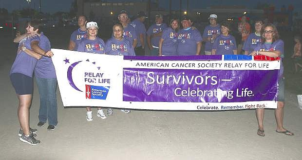Cancer survivors begin Relay of Life's first lap in 2015.