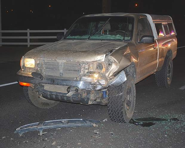 A two-vehicle crash west of Fallon near McLean Road snarled westbound traffic for about two hours Tuesday night. One woman was taken by paramedics to Banner Churchill Community Hospital. Both the Churchill County Sheriff's Office and Nevada Highway Patrol responded to the accident, which happened shortly after 5 p.m.