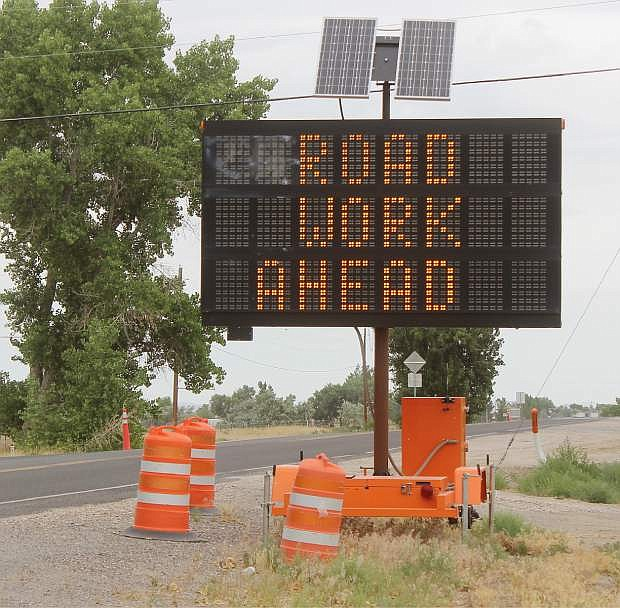 Summer roadwork continues this month in Churchill County.