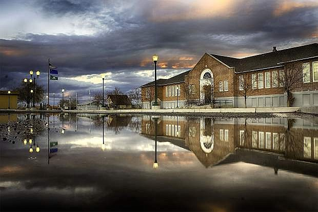 "This reflection of the Oats Park Arts Center will be a featured item at this year's ""Eveing with the Arts"" on March 7."