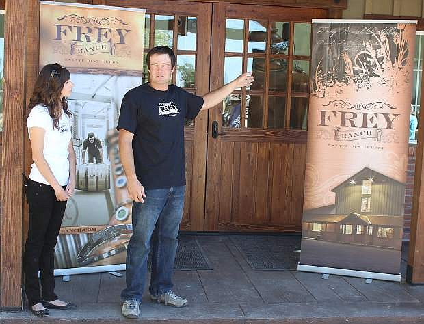Ashley and Colby Frey welcome on Tuesday guests and the media to their kickoff to make distilled spirits.