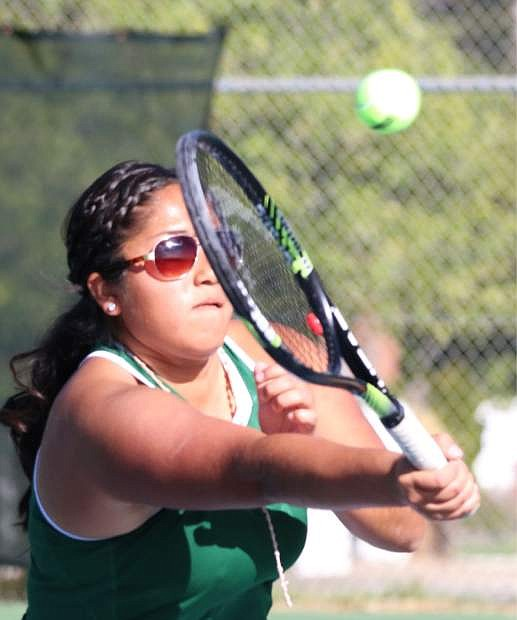 Fallon doubles player Izzy Martinez and partner Kayla Bekiares (not shown) won the regional championship in Truckee this week.