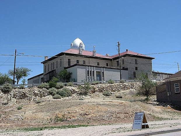 Erected in 1905, the Nye County Courthouse was built of concrete and locally quarried stone.