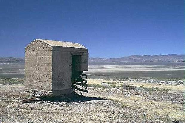 This building is all that remains at Fairview, 40 miles east of Fallon.