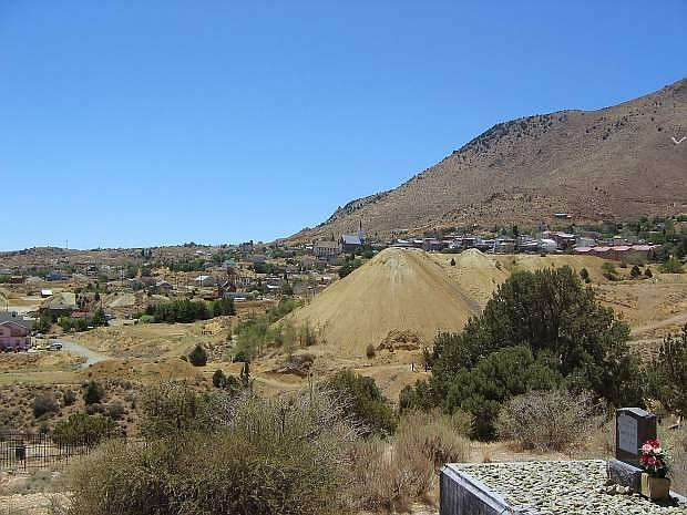 View of Virginia City from the Silver Terrace cemeteries, located north of the historic mining community.