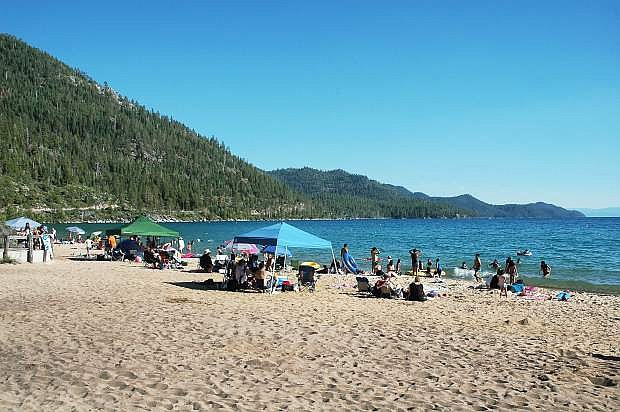 With its sandy beaches, Sand Harbor is one of the many attractions found at Lake Tahoe, Nevada State Park.