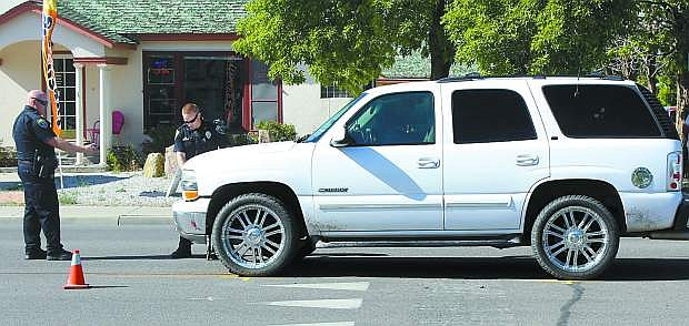 A 9-year-old boy was not seriously injured Wednesday when a vehicle failed to stop for him in the crosswalk on Williams Avenue. The Nevada Highway Patrol is placing an increased emphasis on pedestrian safety during the month of May.