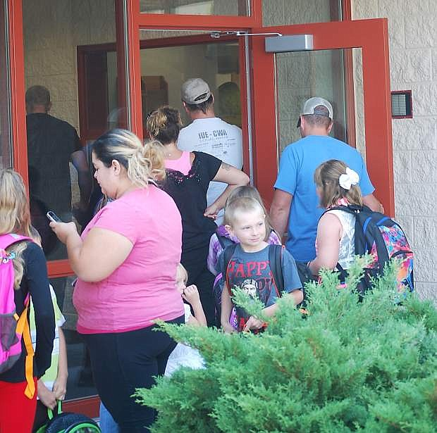 Summer remodeling established single-entry entrances at several Churchill County School District faciliteis including Lahontan Elementary School.