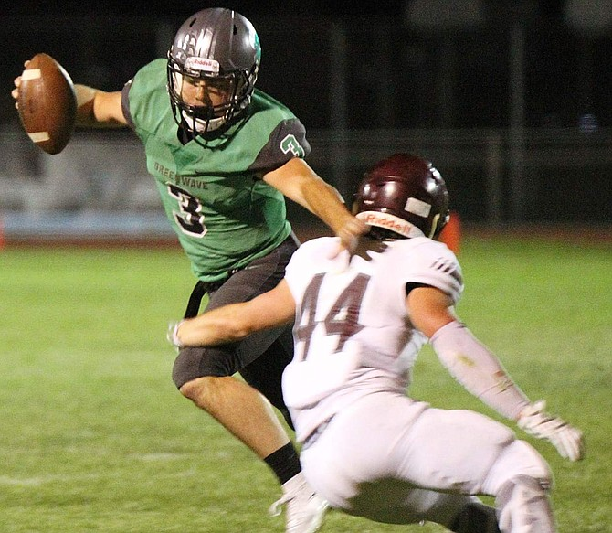 Fallon's Conner Nelson gave the Wave some punch at quarterback Friday in a 52-0 win against Dayton.