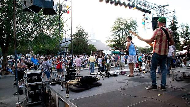 Mumbo Gumbo performs in the free concert series presented at the Brewery Arts Center. The public is needed to vote online to bring the series back to the capital city next summer.