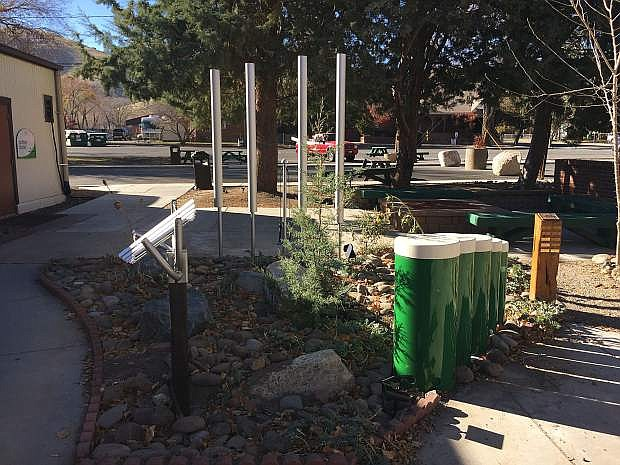 Thanks to a gift from The Change Place and the volunteer efforts of former Parks and Recreation Director Roger Moellendorf, the Brewery Arts Center has just installed Harmony Sculpture Park, the first of its kind in Northern Nevada. The park is comprised of musical instruments for the outdoors that focus on social sustainability for public spaces. The BAC hopes this inclusive and wheelchair accessible park will encourage social participation, improve human performance, promote health and wellness and will be played by all people regardless of age, gender, ethnicity, mobility, visual or auditory limitations or mental ability. There is still room for more instruments and the BAC is hoping others will want to sponsor more instruments to fill out the area. A grand opening and ribbon-cutting is planned at 1 p.m. Nov. 22 at the BAC, 449 W. King St.