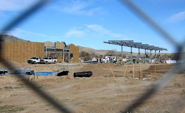 Construction continues on the Maverik gas station on Highway 50 east.