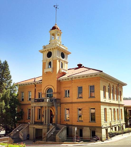 The beautiful Tuolumne County Courthouse is just one of the many historic structures still found in the old mining town of Sonora, Calif.