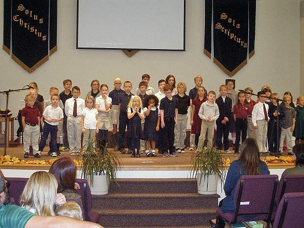 Grace Christian Academy in Minden held its Black and White dinner event on Oct. 7.