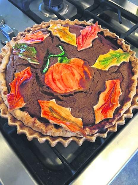 Holiday baking is underway in the kitchen of Bobbie Benson, whose pumpkin pie is seen here.