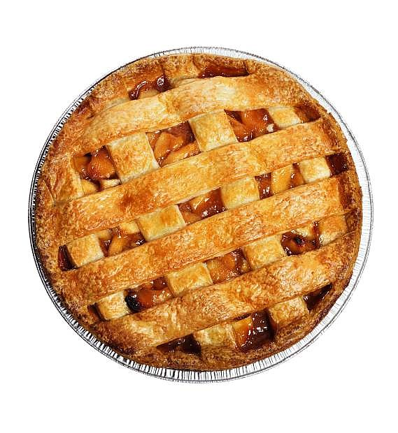 Apple Pie Isolated On White , Top View