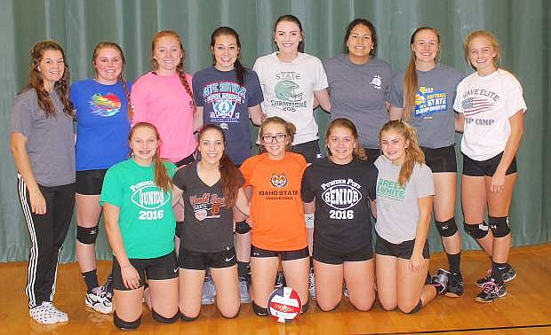 The Lady Wave volleyball team will be seeking a trip to the state tournament this weekend. Fallon is hosting the Northern 3A Regional Tournament at the Elmo Dericco Gym. Back row, from left, are manager Leighton Beyer, Macie Anderson, Kayla Buckmaster, Aleisa Billips, Haylee Paladini, LeAnn Stands and Faith Cornmesser. Front row, from left, are Gracy Lisanti, Journey Martin, Shelbi Schultz, Zoey Swisher and Lorynn Fagg. Patty Daum is the coach.