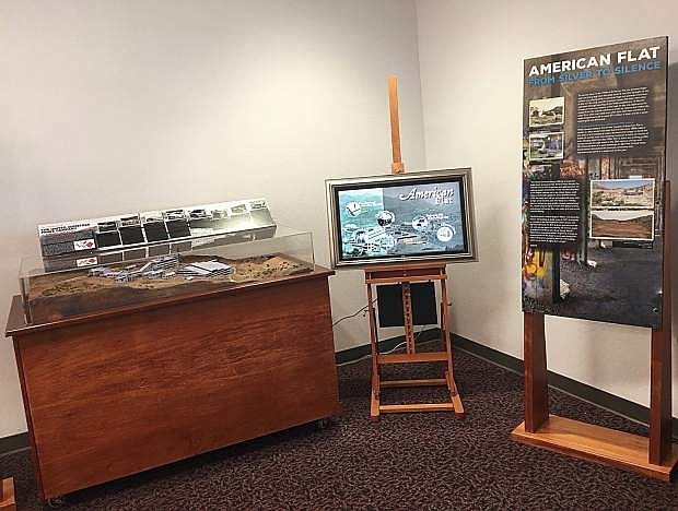 A mobile display about American Flat is at the Carson City BLM Office.