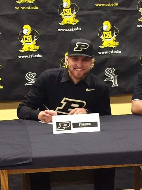 Alec West-Guillen has signed to play baseball at Purdue.