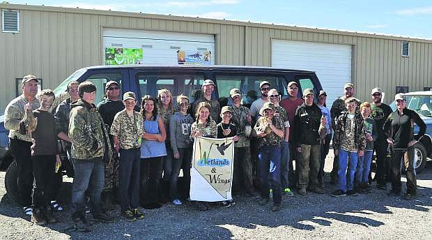 he Wetlands and Wings youth program has a waterfowl hunt day at the Fallon Paiute-Shoshone Tribe wetlands. The tribe also provided transportation and mentors for the group of first-time hunters who did an extensive pre-hunt workshop and used gear and equipment donated by local businesses.