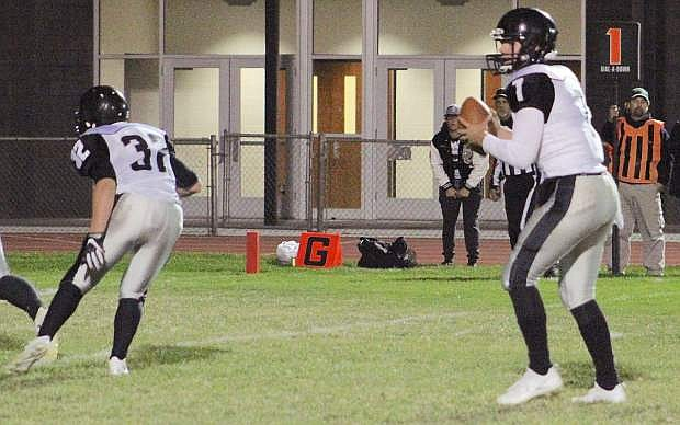 Spring Creek's lethal weapon is Jon Jund, (7),, the Northern 3A's top passer this season.