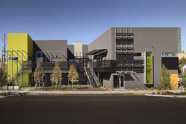 Award-winning design work on 777 Center in midtown Reno transformed the old Maytan Music store into mixed use retail, dining and shopping space.
